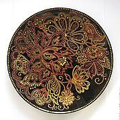 """Посуда ручной работы. Ярмарка Мастеров - ручная работа Тарелка """"Осенний сад"""". Handmade."""