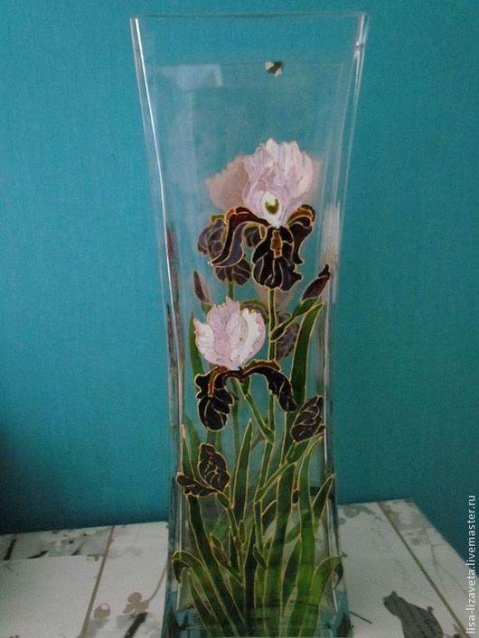 """Вазы ручной работы. Ярмарка Мастеров - ручная работа. Купить Ваза """"Ирисы"""". Handmade. Цветы, ваза"""