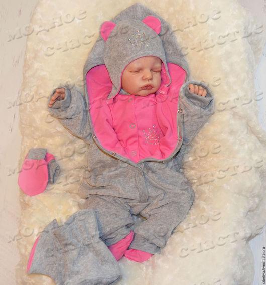 """Для новорожденных, ручной работы. Ярмарка Мастеров - ручная работа. Купить Комплект """"Мышка-малышка-2"""" из 6 предметов. Handmade."""