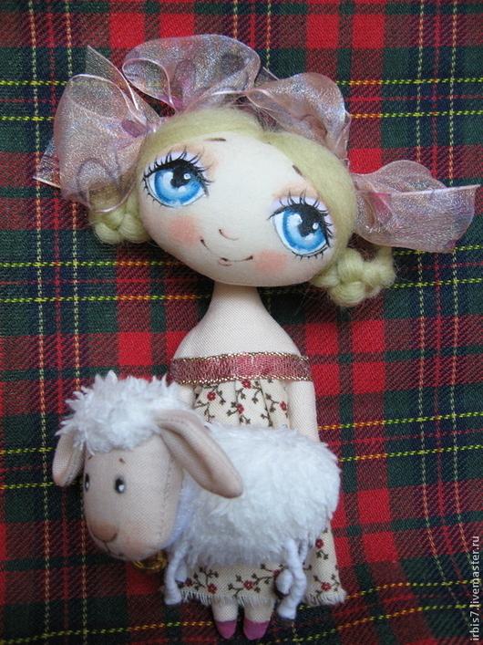 Коллекционные куклы ручной работы. Ярмарка Мастеров - ручная работа. Купить Девочка и овечка. Handmade. Год овцы, год козы, овечка