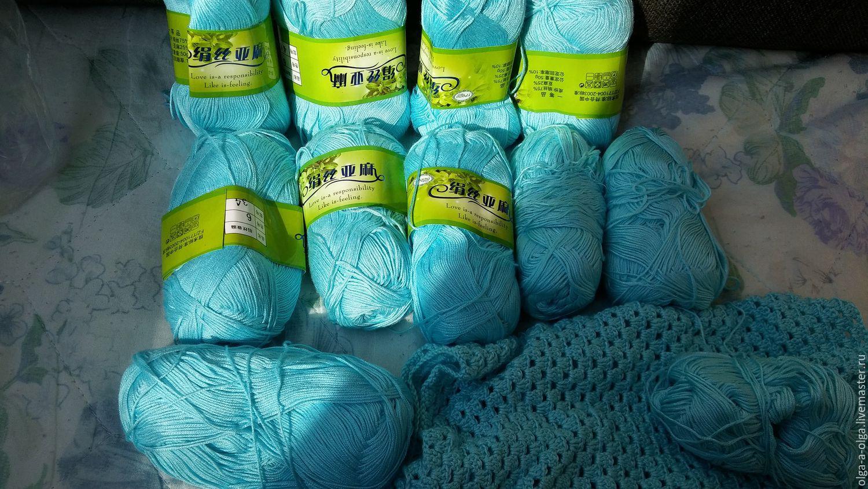Бирюзовые нитки для вязания 89
