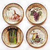 """Посуда ручной работы. Ярмарка Мастеров - ручная работа """"Итальянское удовольствие"""". Комплект тарелок. Handmade."""