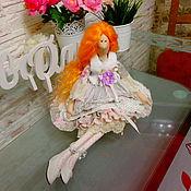 Куклы и игрушки ручной работы. Ярмарка Мастеров - ручная работа Интерьерная куколка с стиле Тильда.Зимой.. Handmade.