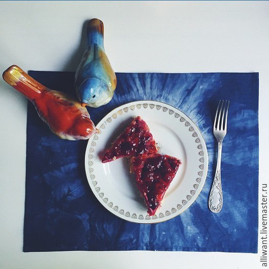 Кухня ручной работы. Ярмарка Мастеров - ручная работа. Купить Кухонные салфетки. Handmade. Тёмно-синий, текстиль для кухни, ткань