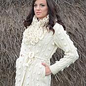 Одежда ручной работы. Ярмарка Мастеров - ручная работа Пальто вязаное 14WJ06. Handmade.