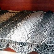 Пледы ручной работы. Ярмарка Мастеров - ручная работа вязаный плед - покрывало из чистой шерсти. Handmade.