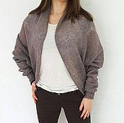 Одежда handmade. Livemaster - original item Cocoon knitted cardigan. Mohair cardigan. Woman knitwear. Handmade.