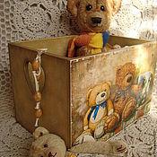 """Для дома и интерьера ручной работы. Ярмарка Мастеров - ручная работа Короб """"Любимая игрушка"""". Handmade."""