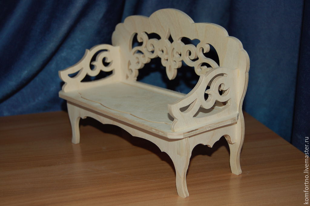 Doll sofa.Blank for decoupage and painting.185