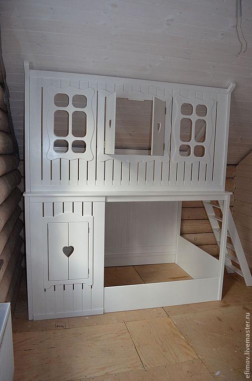 Мебель ручной работы. Ярмарка Мастеров - ручная работа. Купить Детская кровать Катюша. Handmade. Белый, кроватка-домик