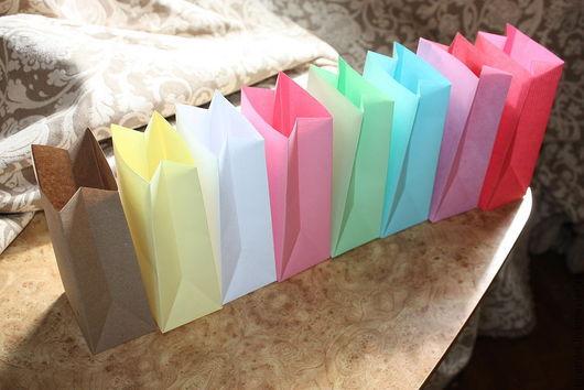 Упаковка ручной работы. Ярмарка Мастеров - ручная работа. Купить Крафт пакет цветной (упаковочные пакеты). Handmade. Упаковочные пакеты