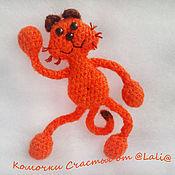 Сувениры и подарки ручной работы. Ярмарка Мастеров - ручная работа Позитивный йога кот )) Котик рыжий магнит смешной подарок улыбка. Handmade.