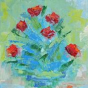 """Картины и панно ручной работы. Ярмарка Мастеров - ручная работа Картина маслом """"Осенние розы"""". Handmade."""