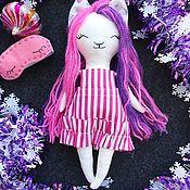 Куклы и пупсы ручной работы. Ярмарка Мастеров - ручная работа Куклы и пупсы: Куколка кошка 27 см. Handmade.
