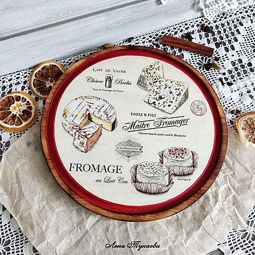 Посуда. Ярмарка Мастеров - ручная работа Доски: Разделочная доска Сырная лавка. Handmade.