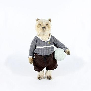 Куклы и игрушки ручной работы. Ярмарка Мастеров - ручная работа Мишка вратарь Яша. Handmade.