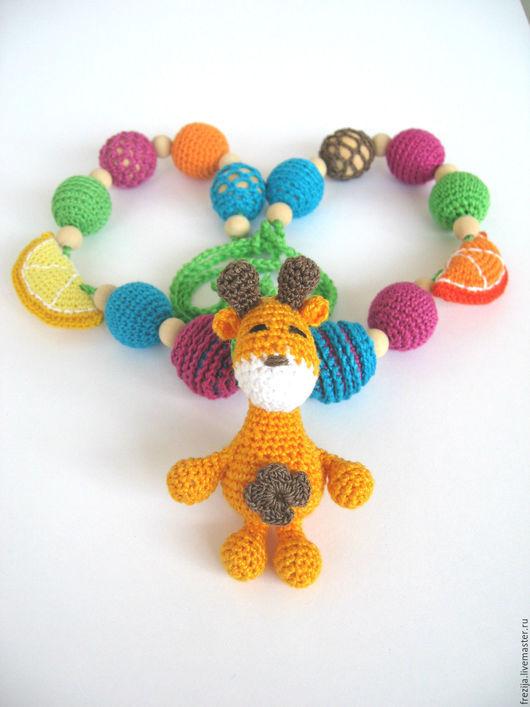 """Слингобусы ручной работы. Ярмарка Мастеров - ручная работа. Купить Слингобусы """"Жираф Гоша"""".. Handmade. Разноцветный, подарок женщине"""