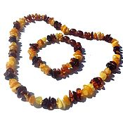 Работы для детей, handmade. Livemaster - original item Amber beads baby with bracelet. Handmade.