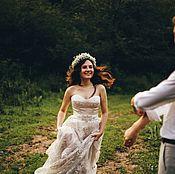 Свадебный салон ручной работы. Ярмарка Мастеров - ручная работа Свадебное платье Кристина. Handmade.