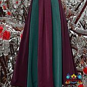 """Одежда ручной работы. Ярмарка Мастеров - ручная работа юбка для зимы """"Зимняя вишня"""" из  джерси. Handmade."""