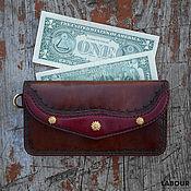Сумки и аксессуары handmade. Livemaster - original item Wallet leather Denga 7. Handmade.