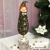 Подарки к праздникам ручной работы. Ярмарка Мастеров - ручная работа Старая сказка, декоративная елочка, интерьерная кукла, темно-зеленый. Handmade.