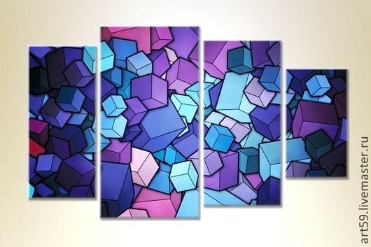 """Абстракция ручной работы. Ярмарка Мастеров - ручная работа. Купить Абстракция """"Куб"""". Handmade. Абстракция, куб, кубики, оформление интерьера"""