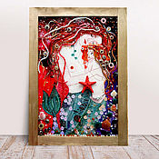 Pictures handmade. Livemaster - original item Fairy decorative pattern Mermaid. Gustav Klimt. Handmade.