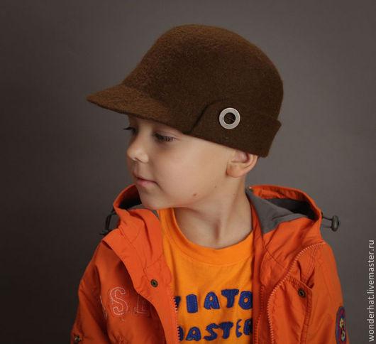 """Шляпы ручной работы. Ярмарка Мастеров - ручная работа. Купить Картуз мужской """"Денди"""". Handmade. Мужская шляпа, шапка из войлока"""