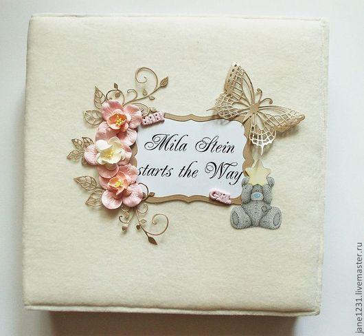 """Подарки для новорожденных, ручной работы. Ярмарка Мастеров - ручная работа. Купить Альбом"""" Mila Stein starts the Way"""". Handmade."""