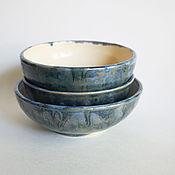 Пиалы ручной работы. Ярмарка Мастеров - ручная работа Пиалы в серебристо-синем. Handmade.