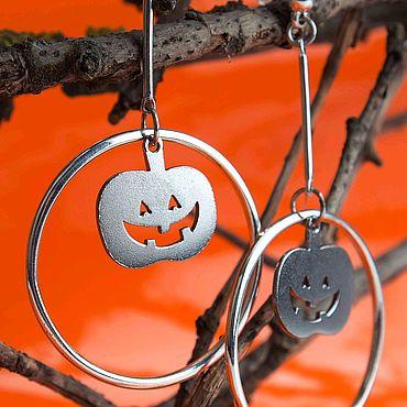 """Украшения ручной работы. Ярмарка Мастеров - ручная работа Серьги хеллоуин """"тыквы"""". Handmade."""