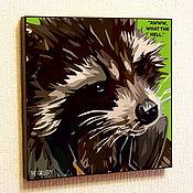 Картины и панно handmade. Livemaster - original item Painting Pop Art Rocket Raccoon Guardians Of The Galaxy. Handmade.
