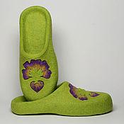 """Обувь ручной работы. Ярмарка Мастеров - ручная работа Валяные тапочки """"Анютино Счастье"""". Handmade."""