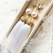 Свадебный салон handmade. Livemaster - original item Earrings brush