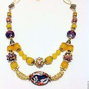 Украшения handmade. Livemaster - original item Necklace made of natural stones in the Eastern style Honey sherbet.. Handmade.