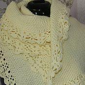 """Аксессуары handmade. Livemaster - original item Copy of Scarf - stole """"flower coral"""". Handmade."""
