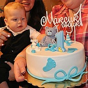 Топпер в торт своими руками