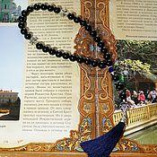 Фен-шуй и эзотерика handmade. Livemaster - original item Orthodox prayer beads made of black agate. Handmade.