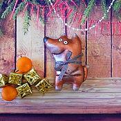 Куклы и игрушки ручной работы. Ярмарка Мастеров - ручная работа Лисы и зайцы.Кофейные игрушки. Handmade.