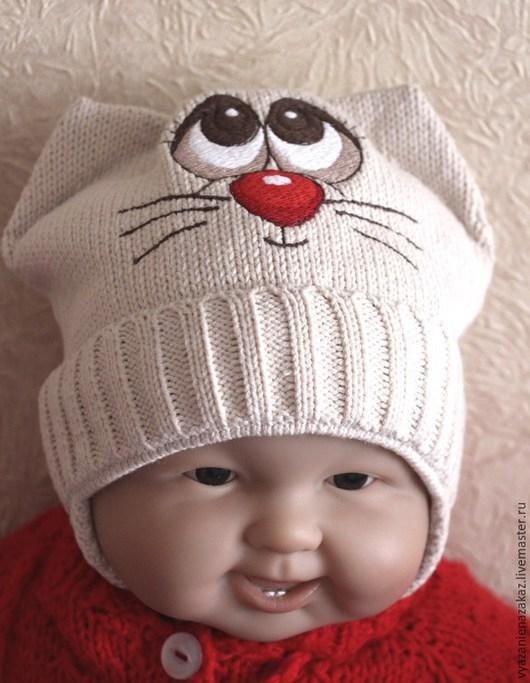 Шапки и шарфы ручной работы. Ярмарка Мастеров - ручная работа. Купить Шапочка для малышей. Handmade. Бежевый, шапочка для девочки