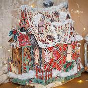Кукольные домики ручной работы. Ярмарка Мастеров - ручная работа Новогодний домик. Handmade.
