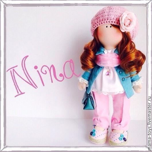 Коллекционные куклы ручной работы. Ярмарка Мастеров - ручная работа. Купить Кукла интерьерная Нина. Handmade. Кукла с большими ногами