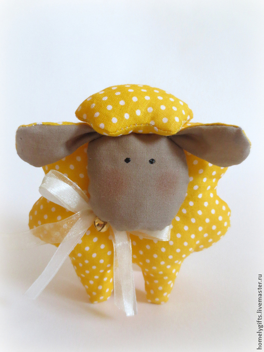 Куклы Тильды ручной работы. Ярмарка Мастеров - ручная работа. Купить Овечка Солнечное настроение. Handmade. Желтый, овечка текстильная