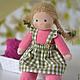 Вальдорфская игрушка ручной работы. Заказать Вальдорфская кукла Малинка, 30 см. Елена Белова (waldorf dolls). Ярмарка Мастеров.