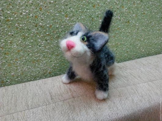 Игрушки животные, ручной работы. Ярмарка Мастеров - ручная работа. Купить кот обычный мурзик.. Handmade. Коты ручной работы