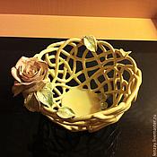 Посуда handmade. Livemaster - original item The Candy Bowl Vanilla. Handmade.
