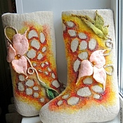Обувь ручной работы. Ярмарка Мастеров - ручная работа зимняя обувь,ОБУВЬ РУЧНОЙ РАБОТЫ, валенки дизайнерские. Handmade.