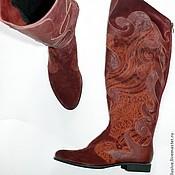 Обувь ручной работы. Ярмарка Мастеров - ручная работа Сапоги бордо. Handmade.