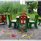 Куклы и игрушки ручной работы. Ярмарка Мастеров - ручная работа Мебель для кукольной кухни-столовой. Handmade.